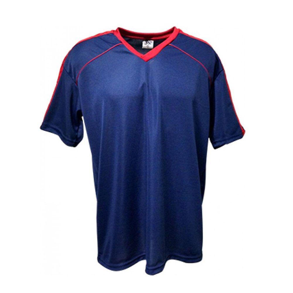 Camisa Camiseta Futebol / Futsal / Volei Arezzo- Marinho/Vermelho- Adulto - Kanga  - Loja do Competidor