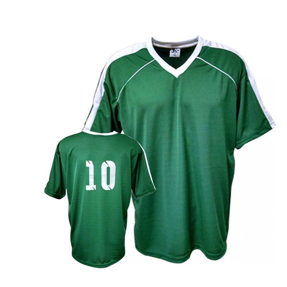 6ae9d58b7 ... Camisa Camiseta Futebol   Futsal   Volei Arezzo Verde Branco- Adulto -  Kanga ...