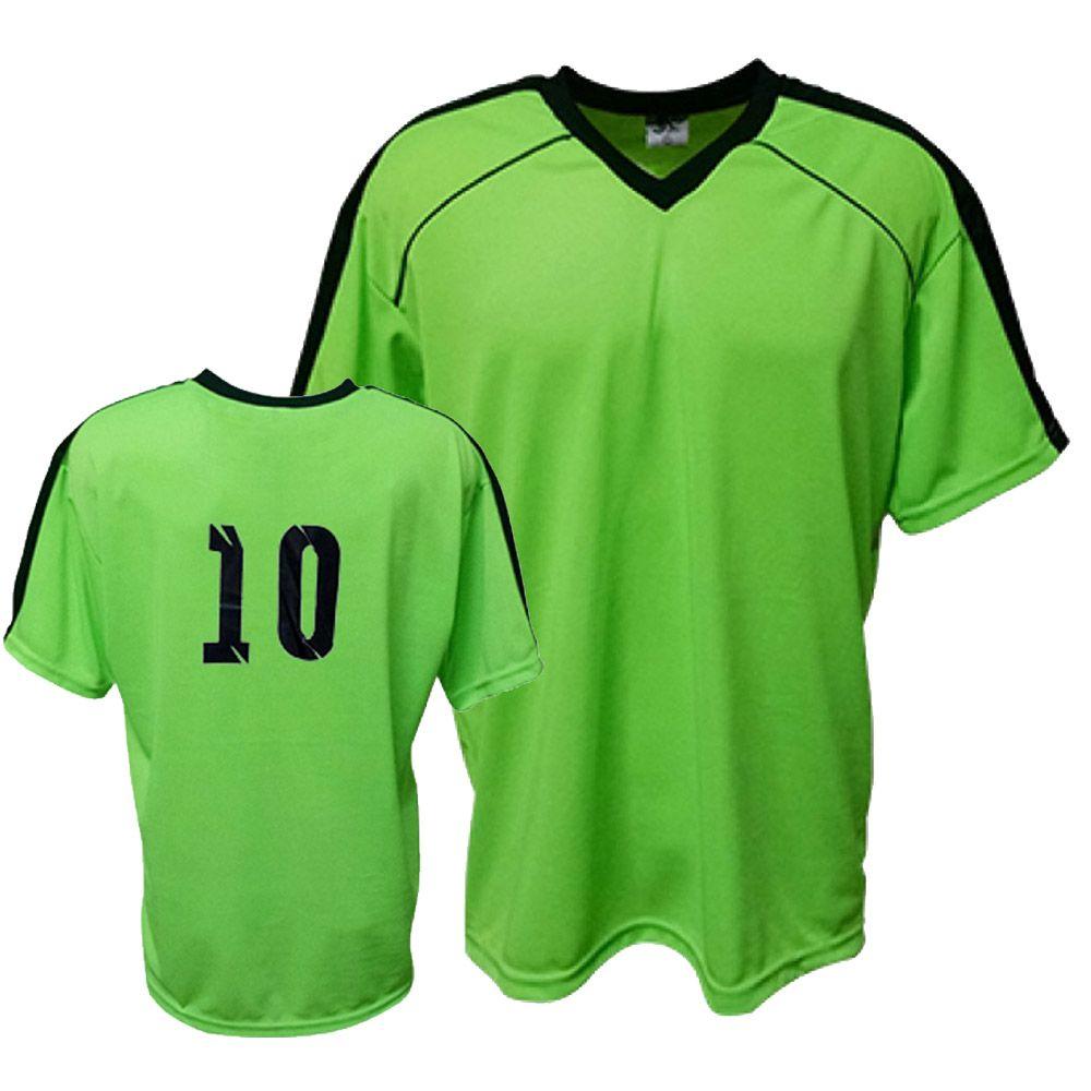 Camisa Camiseta Futebol / Futsal / Volei Arezzo Verde/Preto- Adulto - Kanga