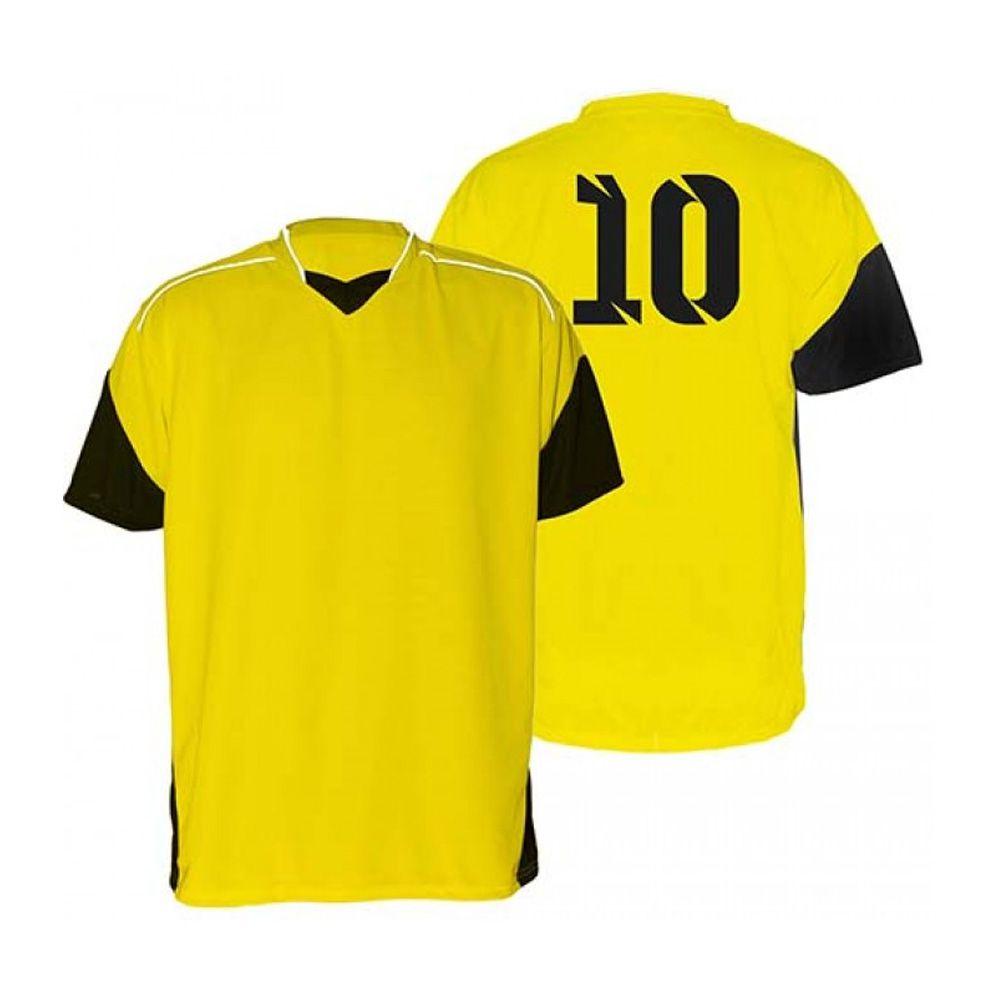 Kit com 18 Camisas Camiseta - Futebol Futsal Volei - Munique -  Amarelo Preto - A 6da52e764d515