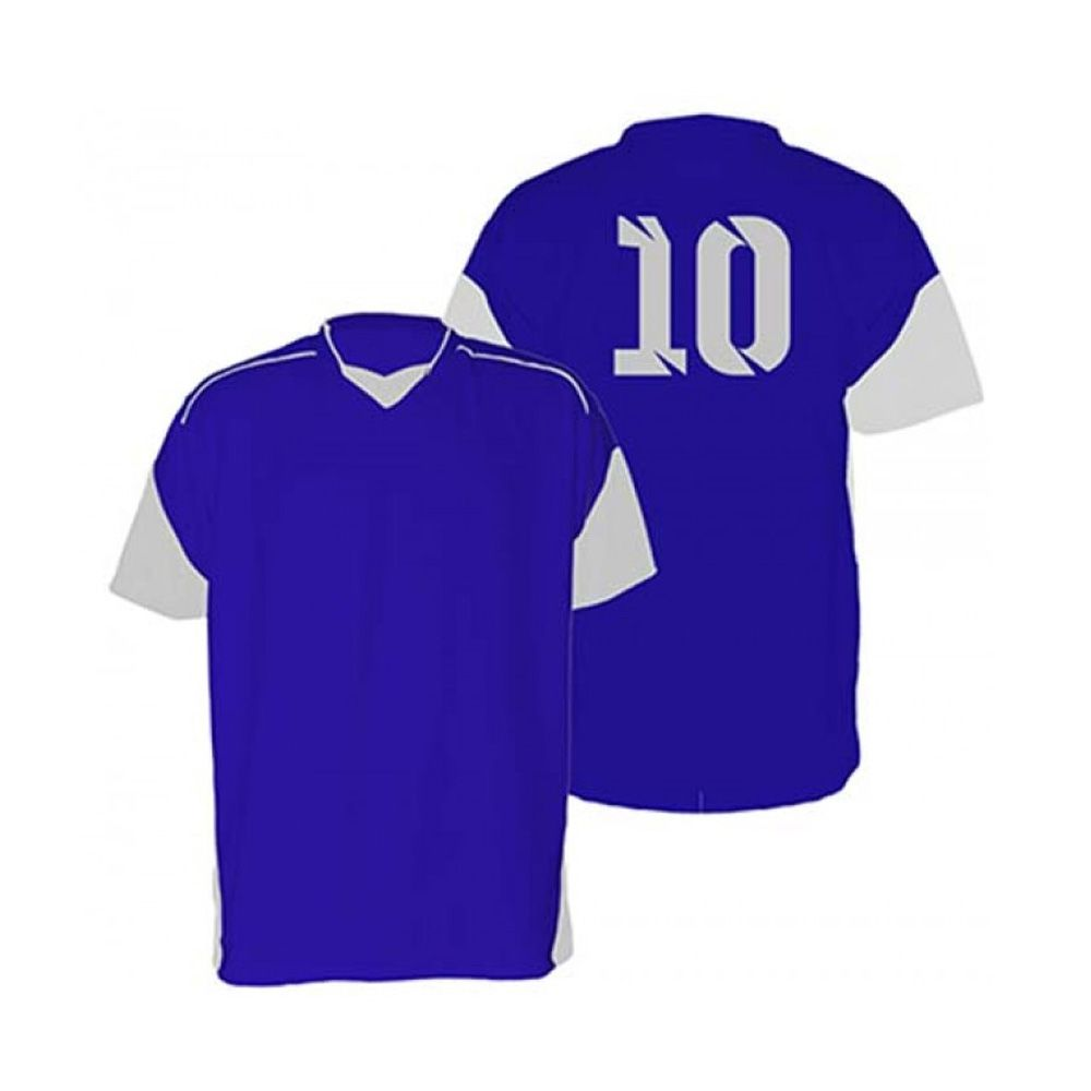 Kit com 18 Camisas Camiseta - Futebol Futsal Volei - Munique - Azul/Branco - Adulto - Kanga