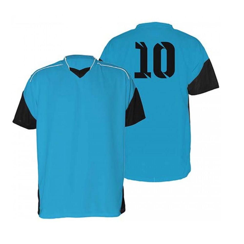 Kit com 18 Camisas Camiseta - Futebol Futsal Volei - Munique - Azul/Preto - Adulto - Kanga  - Loja do Competidor