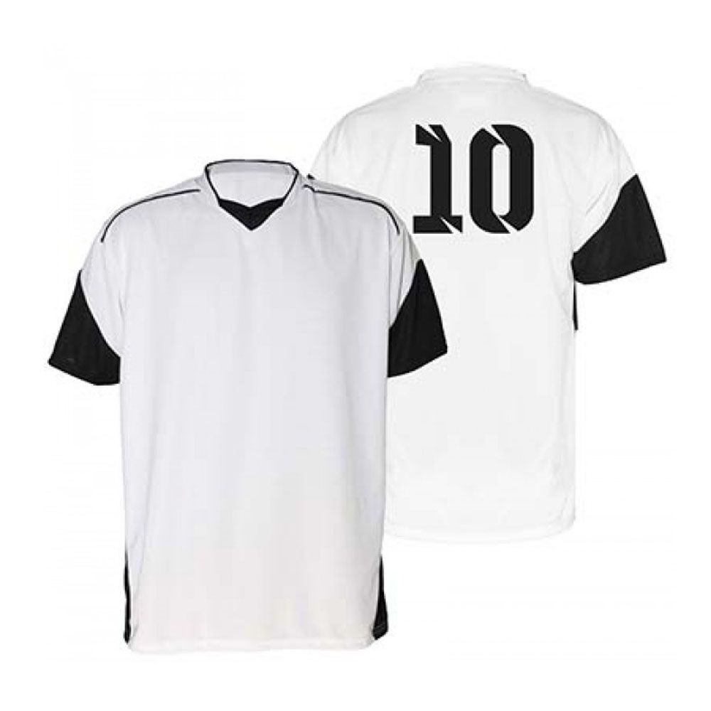 Kit com 18 Camisas Camiseta - Futebol Futsal Volei - Munique - Branca/Preta - Adulto - Kanga