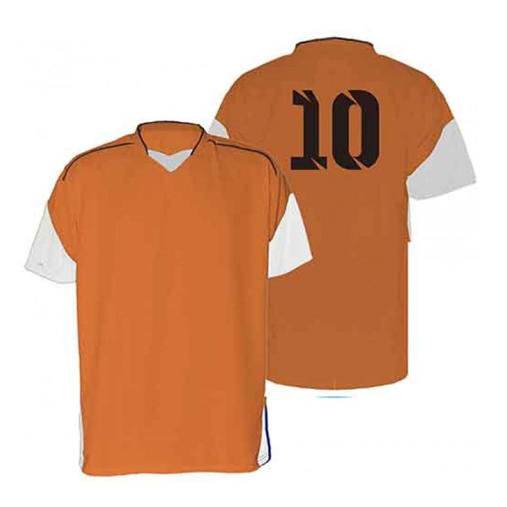 Kit com 18 Camisas Camiseta - Futebol Futsal Volei - Munique - Laranja/Branco - Adulto - Kanga