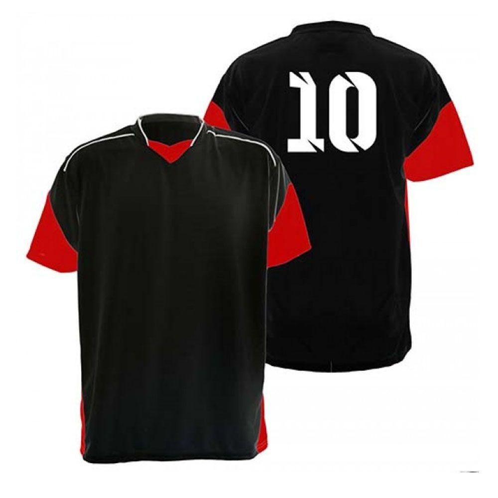 6056175091a33 Kit com 18 Camisas Camiseta - Futebol Futsal Volei - Munique - Preta Verm -  Adul