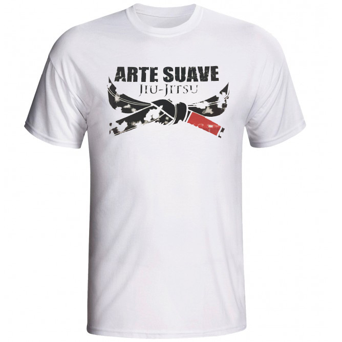 Camisa/Camiseta - Jiu Jitsu - Arte Suave - Branco .