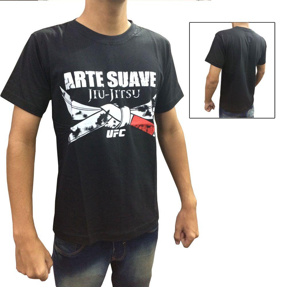Camisa Camiseta - Jiu Jitsu - Black Belt - Preto - UFC