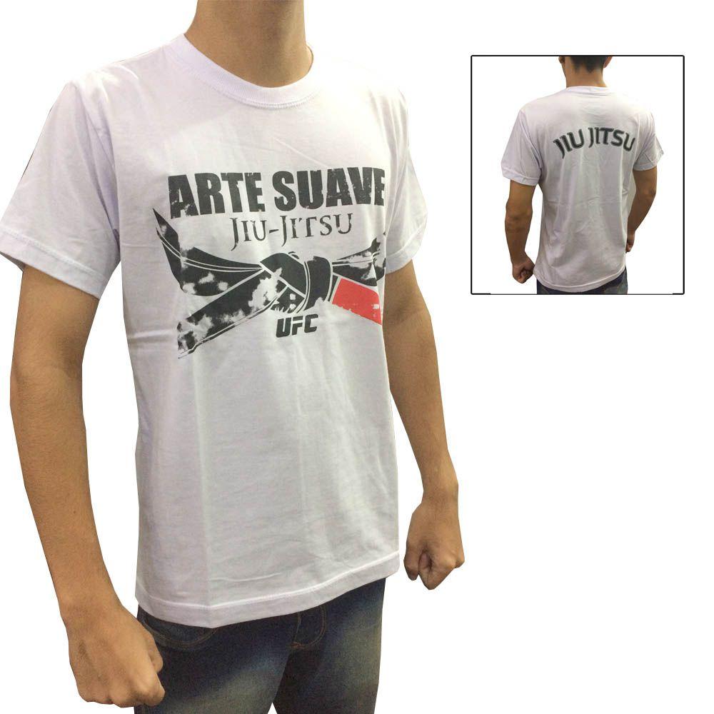 Camisa Camiseta - Jiu Jitsu Arte Suave - Branca - UFC
