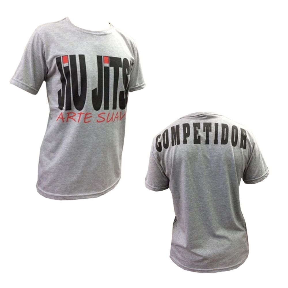 Camisa Camiseta Jiu Jitsu - Black Belt - Cinza - Duelo Fight  - Loja do Competidor