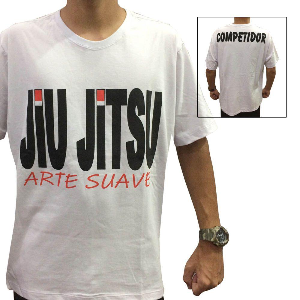 Camisa Camiseta Jiu Jitsu - Black Belt - Branca - Duelo Fight