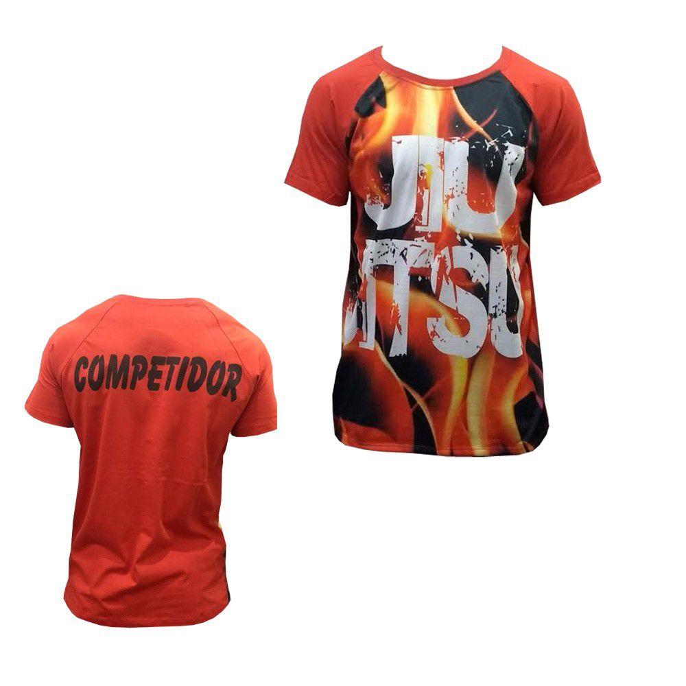 Camisa/Camiseta - Jiu Jitsu em Chamas - Duelo Fight
