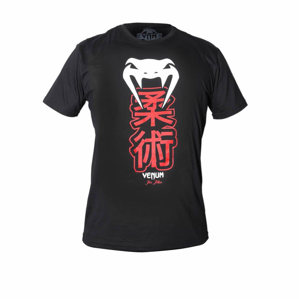 Camisa Camiseta Jiu Jitsu - Kenji Black - Venum   - Loja do Competidor