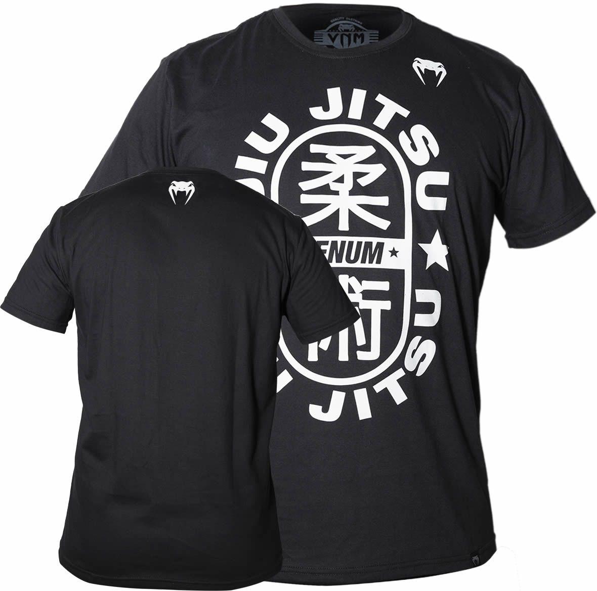 Camisa Camiseta Jiu Jitsu Star - Preta - Venum Fight  - Loja do Competidor
