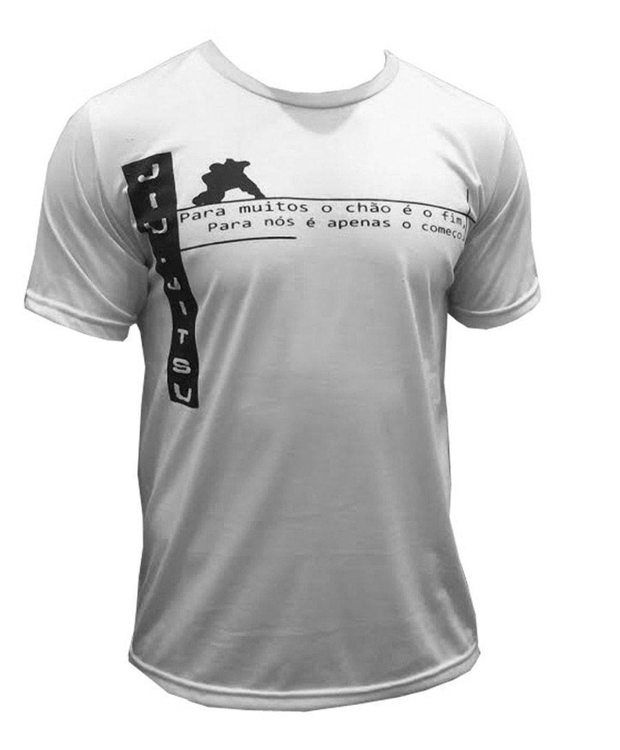 Camisa Camiseta Jiu Jitsu - Vem para a Guarda - Branca - Duelo Fight -
