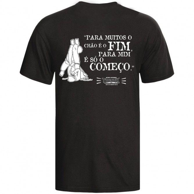 Camisa Camiseta - Jiu Jitsu - Vem pro Chão  - Loja do Competidor