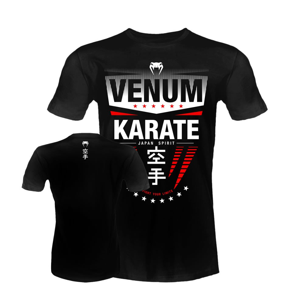 Camisa Camiseta - Karate Japan Spirit - Preta - Venum