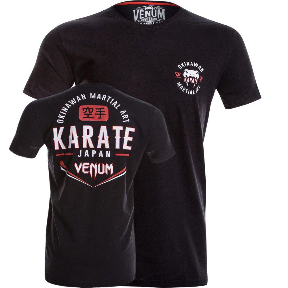 Camisa Camiseta - Karate Okinawa - Preta - Venum