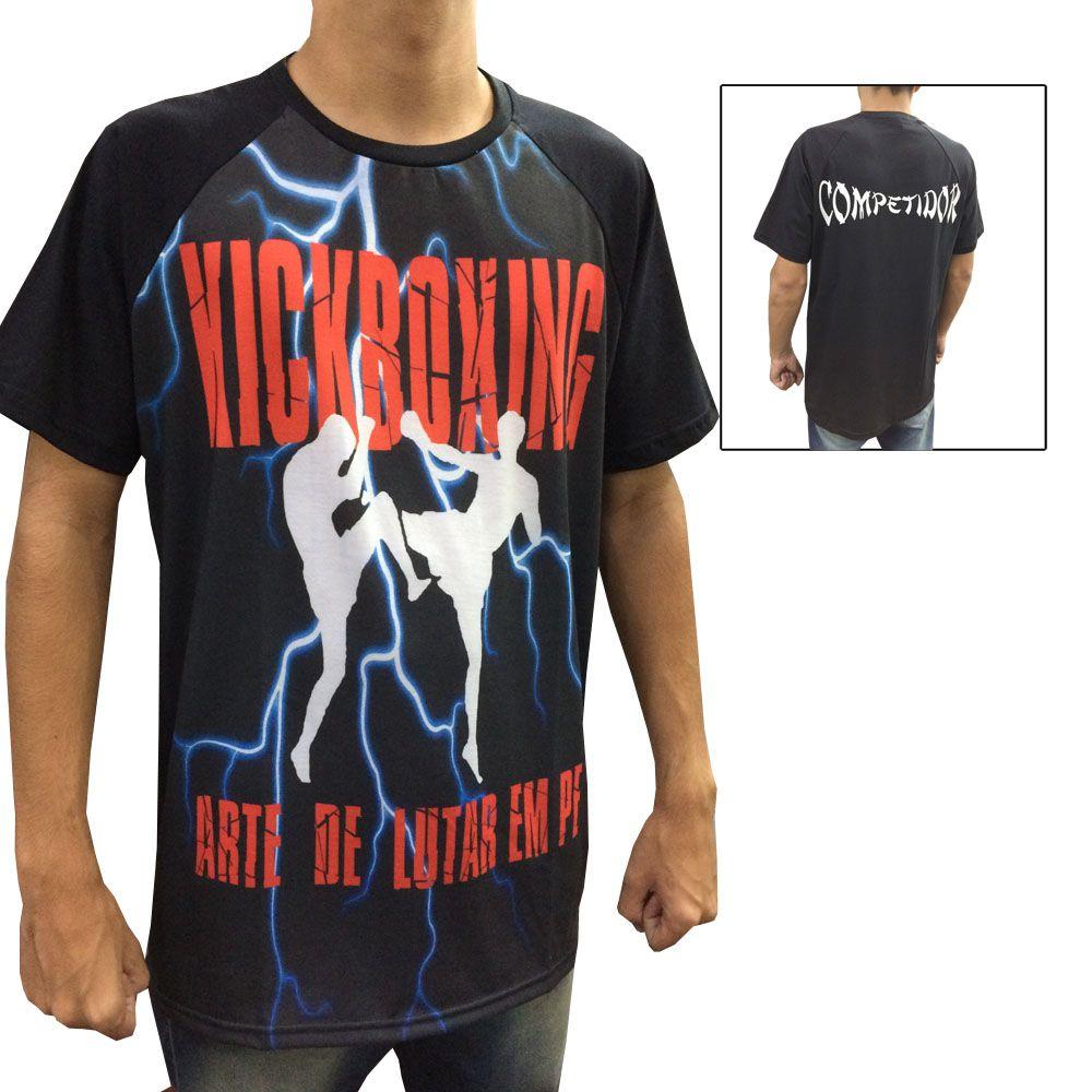 Camisa Camiseta Kickboxing - A Arte de Lutar em Pé - Duelo Fight -