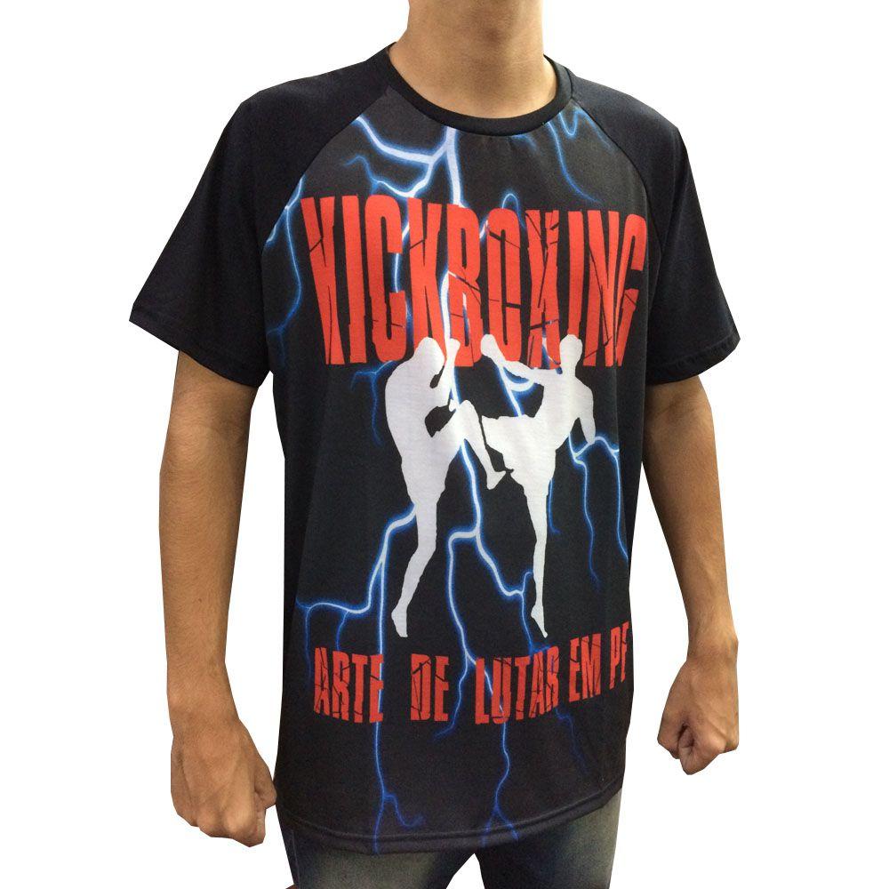 Camisa Camiseta Kickboxing - A Arte de Lutar em Pé - Duelo Fight  - Loja do Competidor
