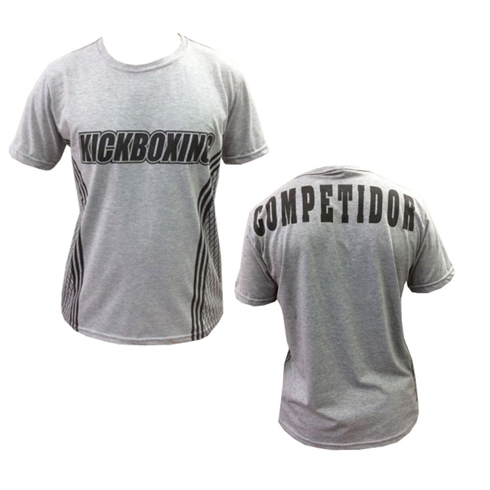 Camisa Camiseta Kickboxing - Octagon - Cinza - Duelo Fight