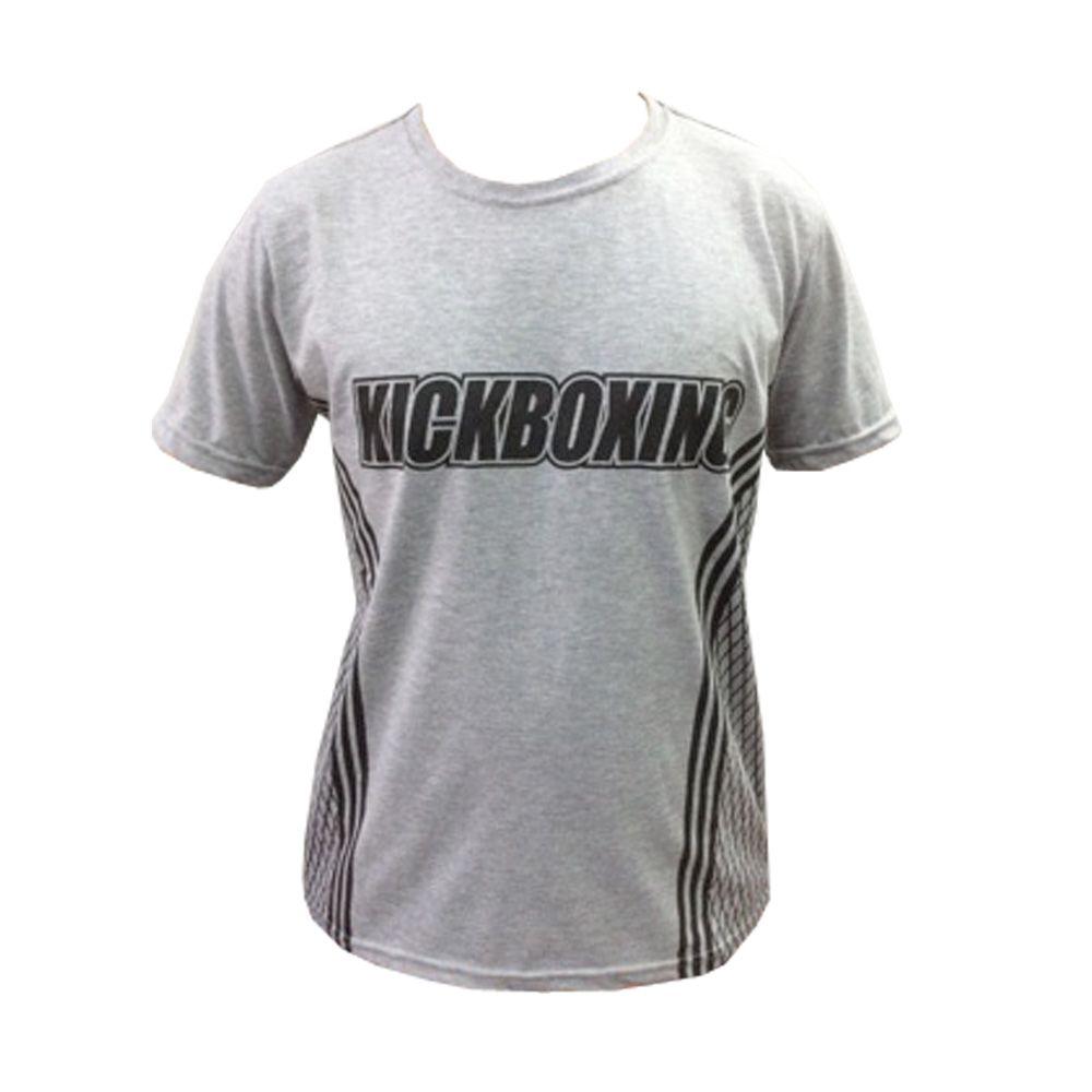 Camisa Camiseta Kickboxing - Octagon - Cinza - Duelo Fight  - Loja do Competidor
