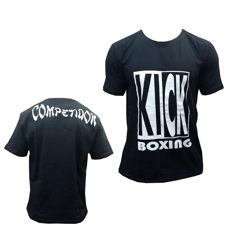 Camisa/Camiseta - Kickboxing Full Contact - Preto/Branco - Duelo Fight .