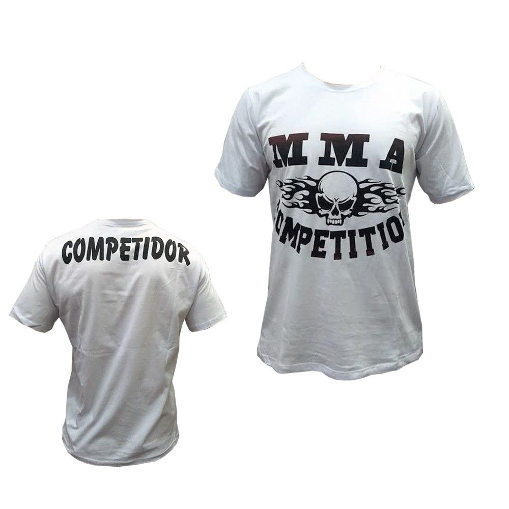 0a1035205c4d6 Camisa Camiseta - MMA Competition- Branco - Duelo Fight .