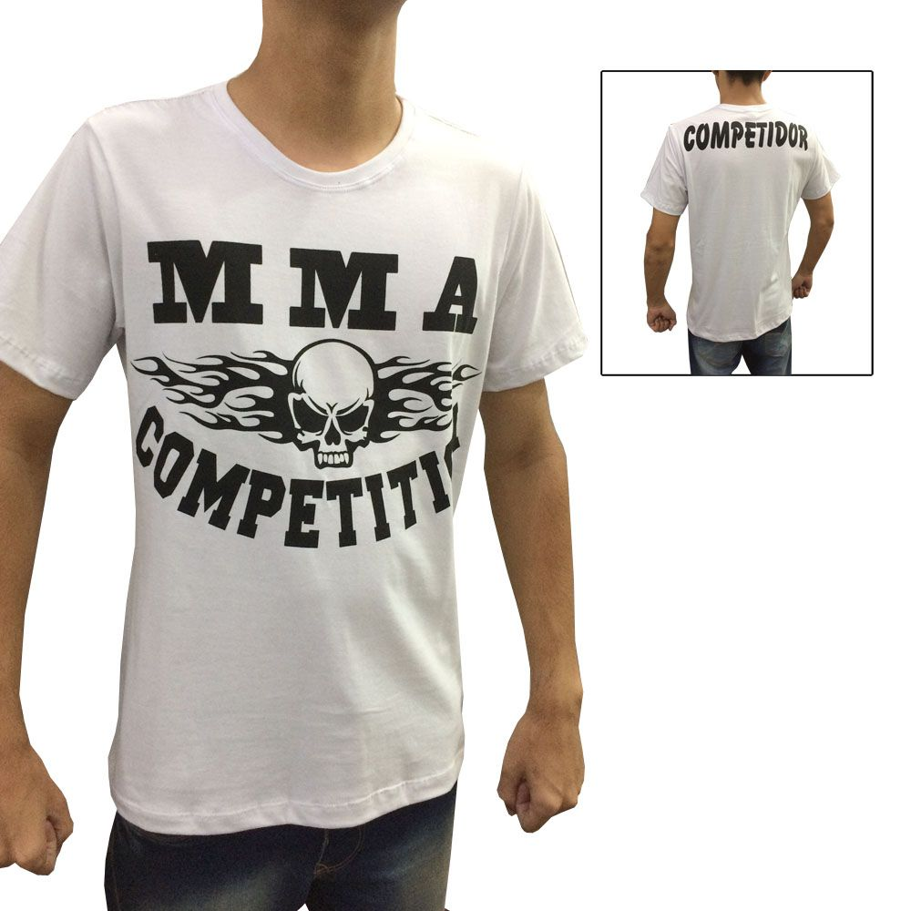 Camisa Camiseta MMA Competition - Branco - Duelo Fight -