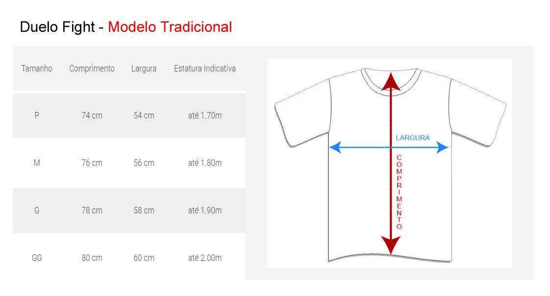 Camisa Camiseta MMA Competition - Branco - Duelo Fight  - Loja do Competidor