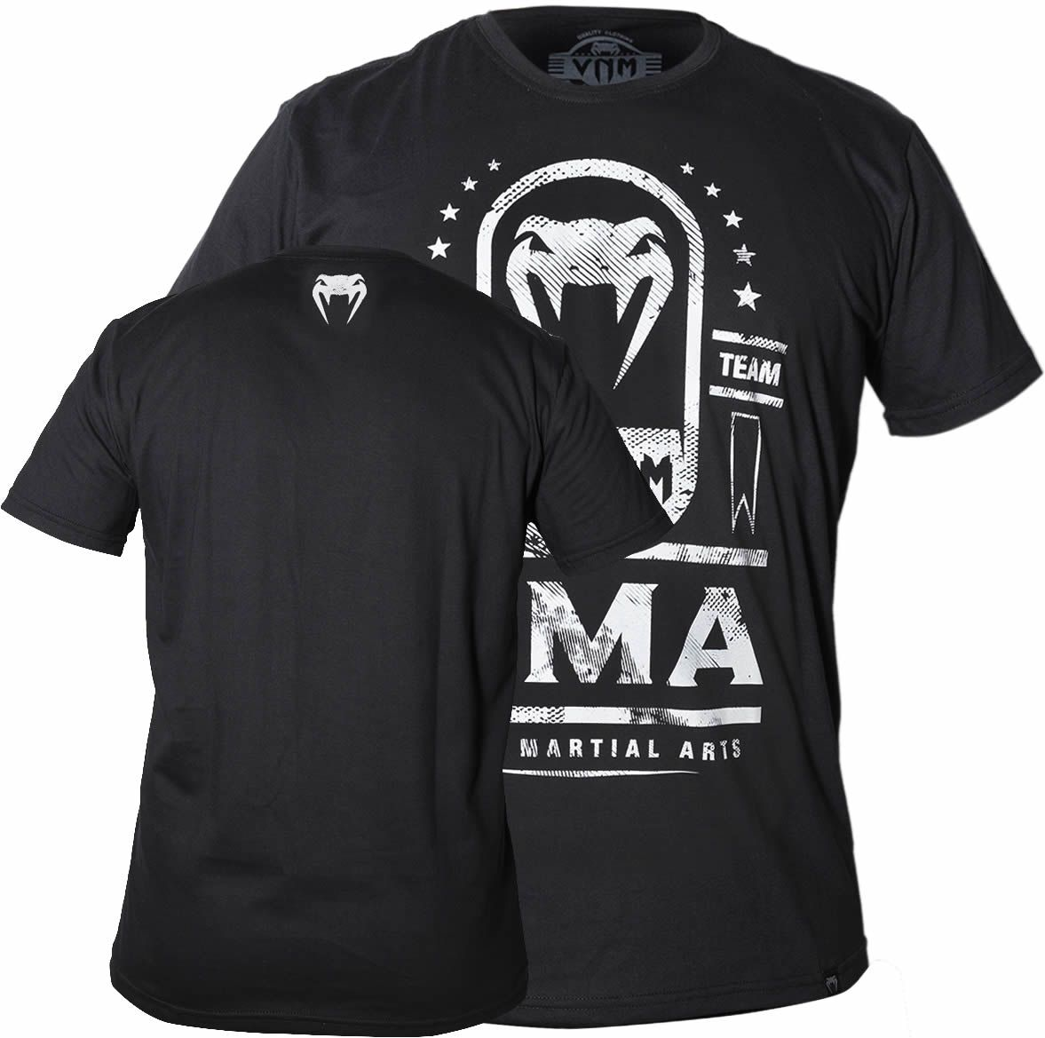 Camisa Camiseta MMA Fight Team - Preta - Venum