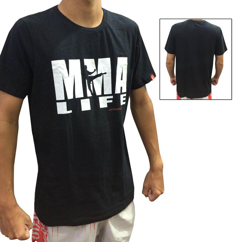 Camisa Camiseta MMA Life - Preto - Uppercut - ULTIMA -