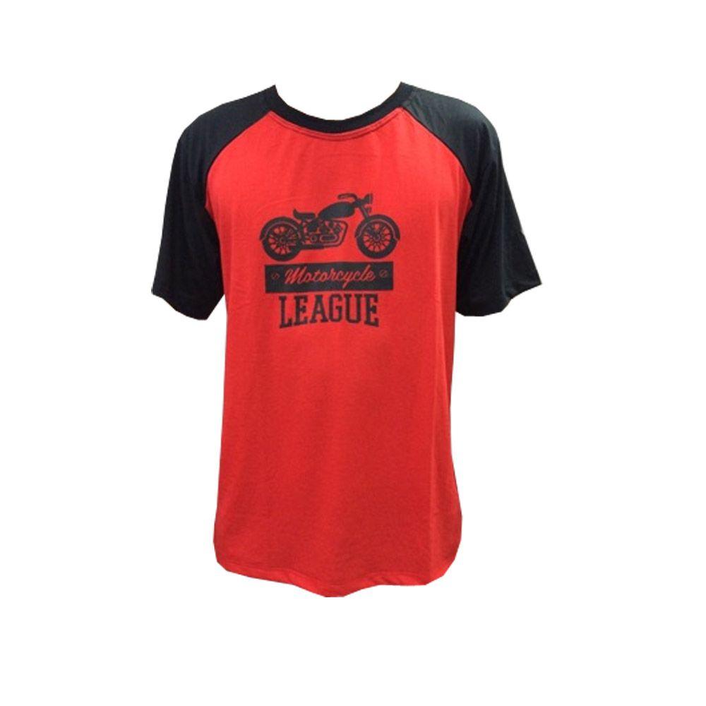 Camisa Camiseta - Motociclista / Motoqueiro - Preto/Vermelho - League- Toriuk  - Loja do Competidor