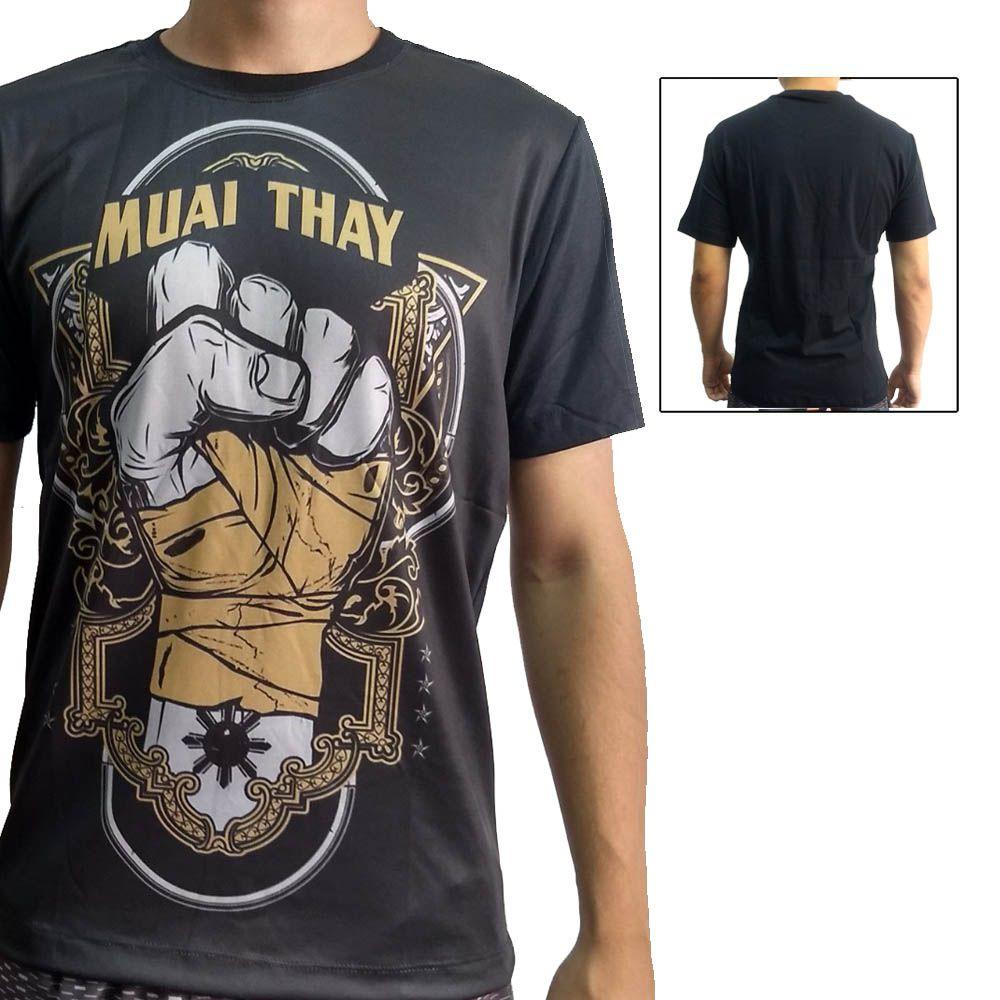 Camisa Camiseta Muay Thai - Punhos de Aço - John Brazil
