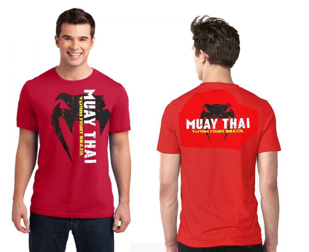 Camisa Camiseta - Muay Thai Fight Brazil - Vermelho - Venum