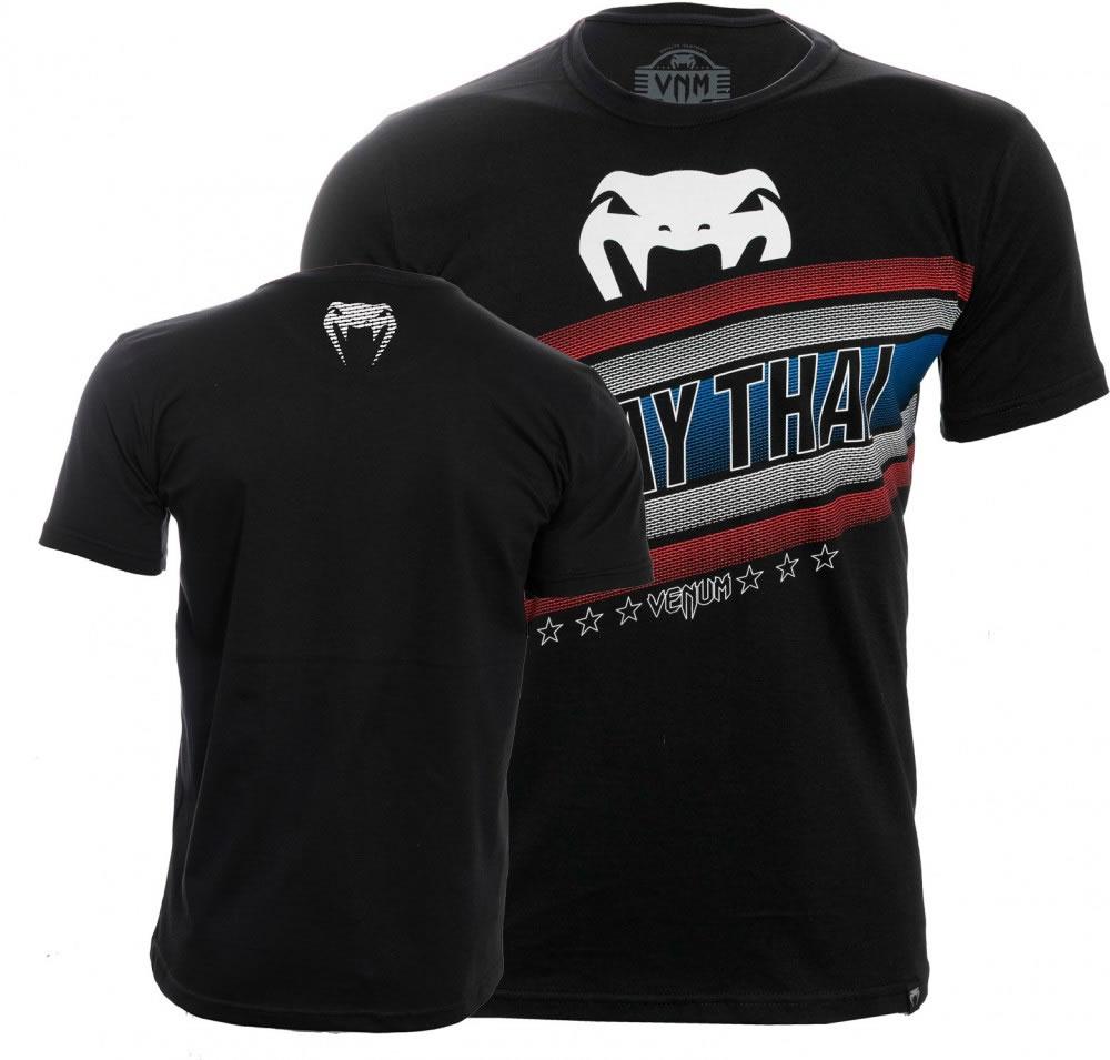 Camisa Camiseta Muay Thai Flag - Preta - Venum