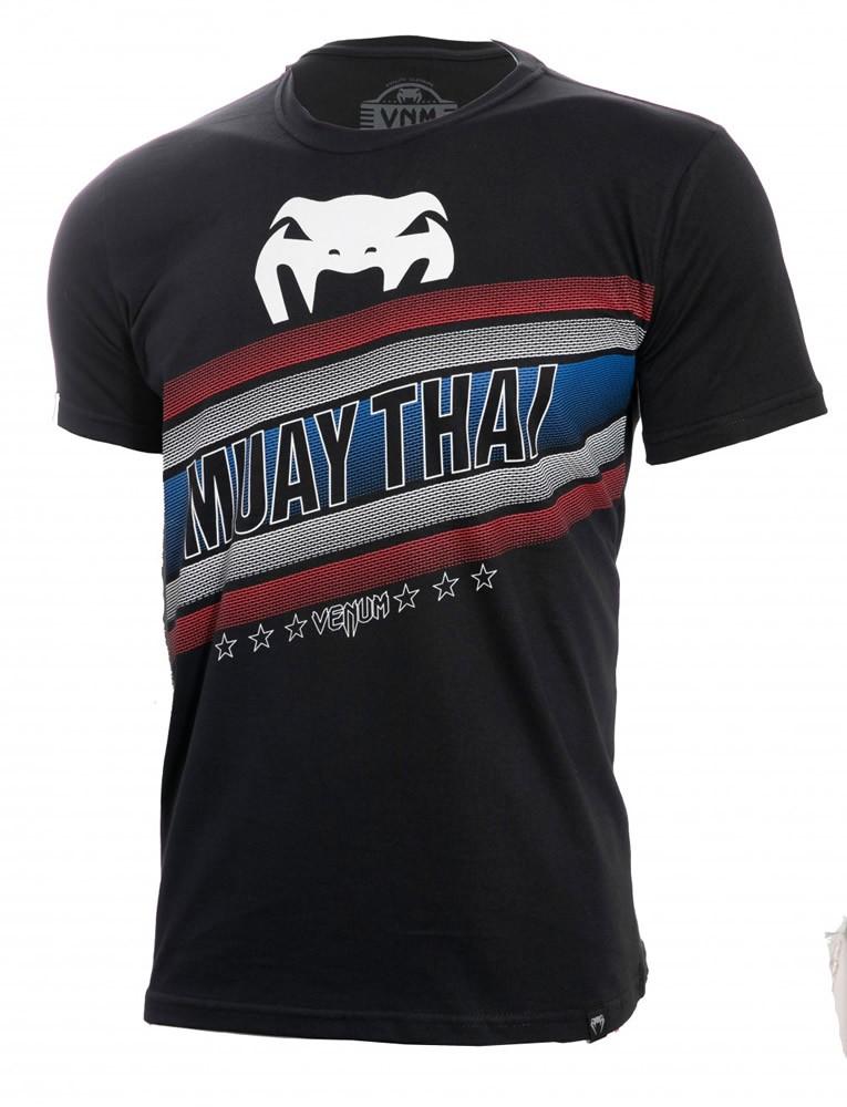Camisa Camiseta Muay Thai Flag - Preta - Venum  - Loja do Competidor