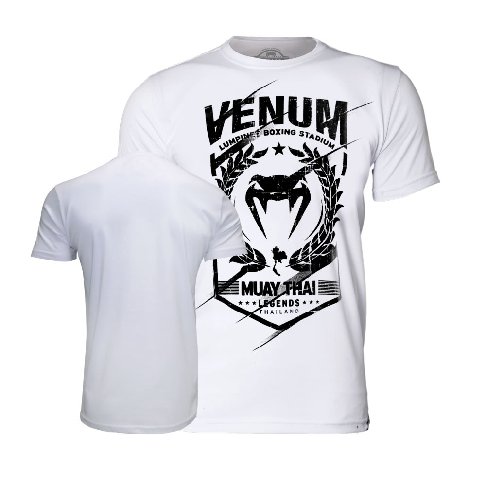 Camisa Camiseta Muay Thai Legends - Branca - Venum