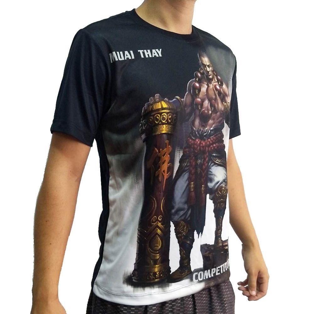 Camisa Camiseta Muay Thai Monk - John Brazil  - Loja do Competidor