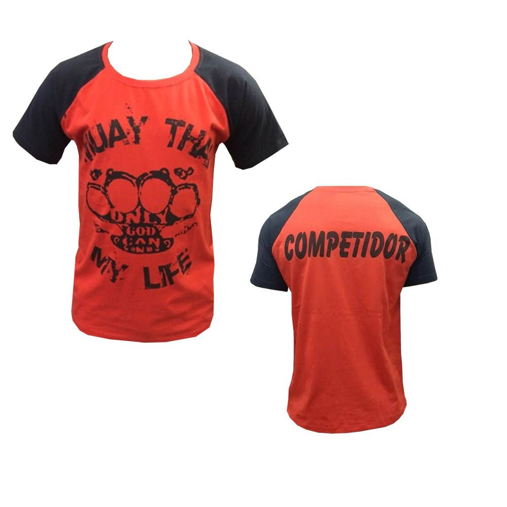 Camisa Camiseta - Muay Thai - My Life - Vermelha - Duelo Fight .  - Loja do Competidor