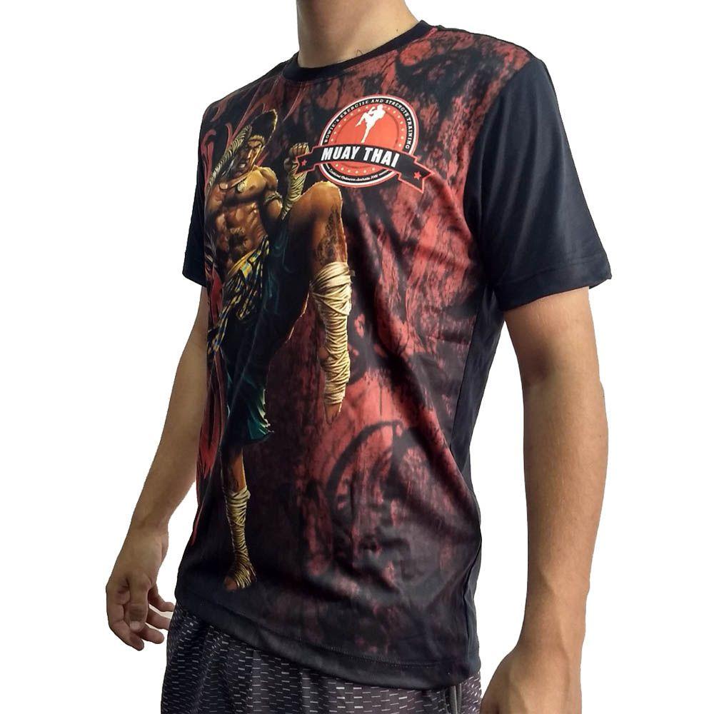 Camisa Camiseta Muay Thai  - Ong Bak - John Brazil  - Loja do Competidor
