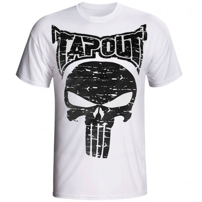 Camisa/Camiseta - Punisher - Branco - Tapout  - Loja do Competidor