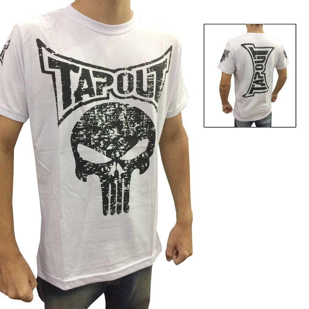 Camisa Camiseta - Punisher - Branco - Tapout -