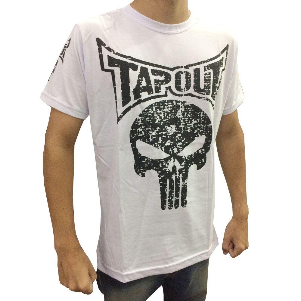 Camisa Camiseta - Punisher - Branco - Tapout -  - Loja do Competidor
