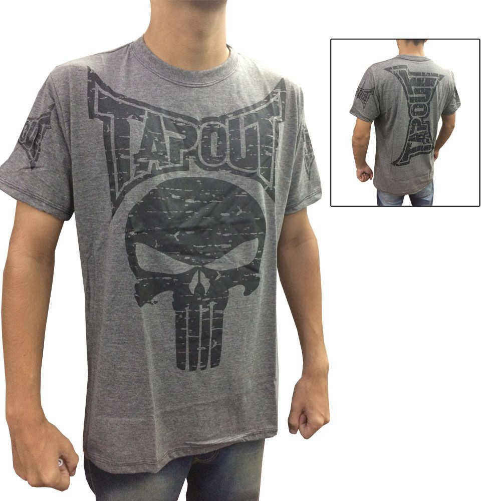 Camisa Camiseta - Punisher - Cinza - Tapout  - Loja do Competidor