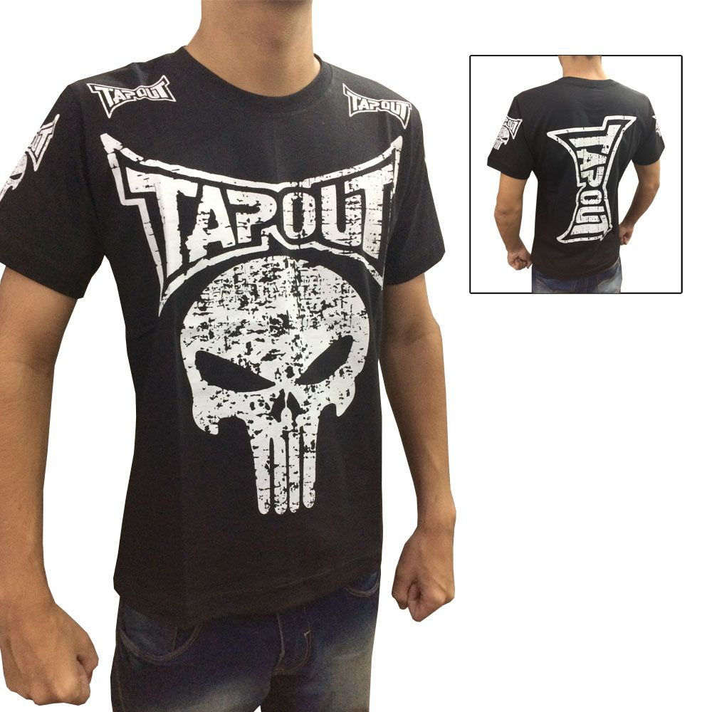Camisa Camiseta - Punisher - Preto - Tapout Fight