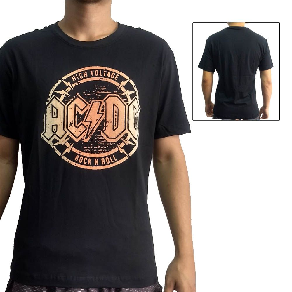 Camisa Camiseta Rock'n'Roll - AC/DC High Voltage - John Brazil