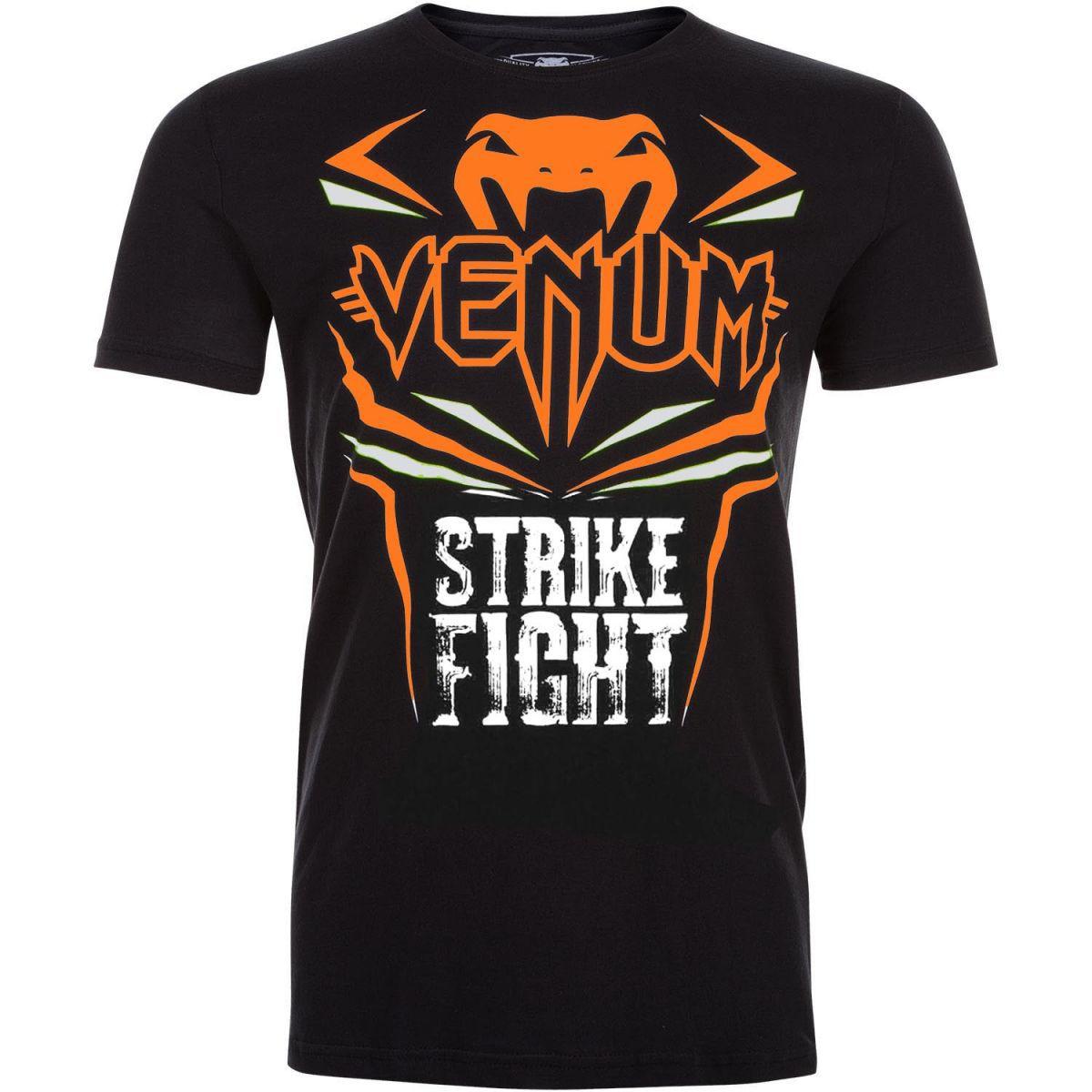 Camisa/Camiseta - Strike - Preto/Laranja- Venum .  - Loja do Competidor