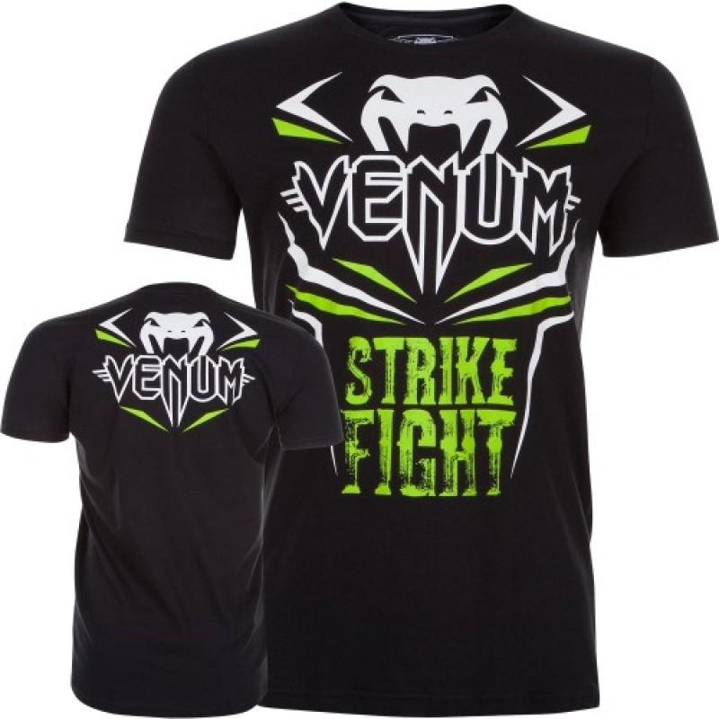 Camisa/Camiseta - Strike - Preto/Verde- Venum  - Loja do Competidor