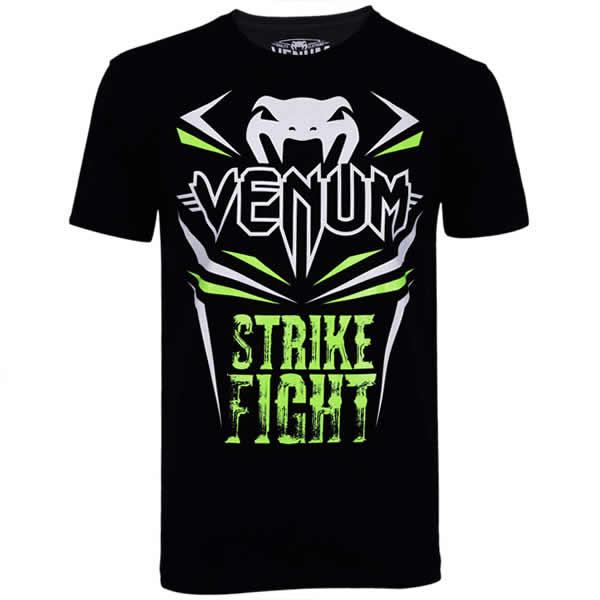 Camisa Camiseta - Strike - Preto/Verde- Venum -  - Loja do Competidor
