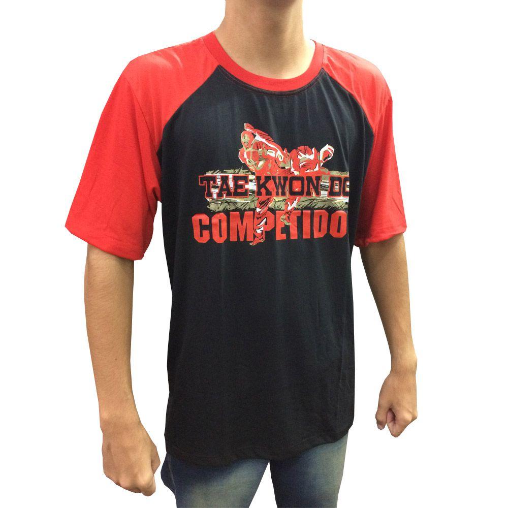 Camisa Camiseta - Taekwondo Competidor V2 - Preto/Verm - Toriuk -  - Loja do Competidor
